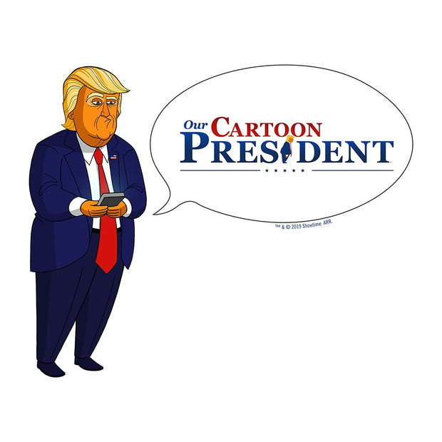 Our Cartoon President Tweet White Mug
