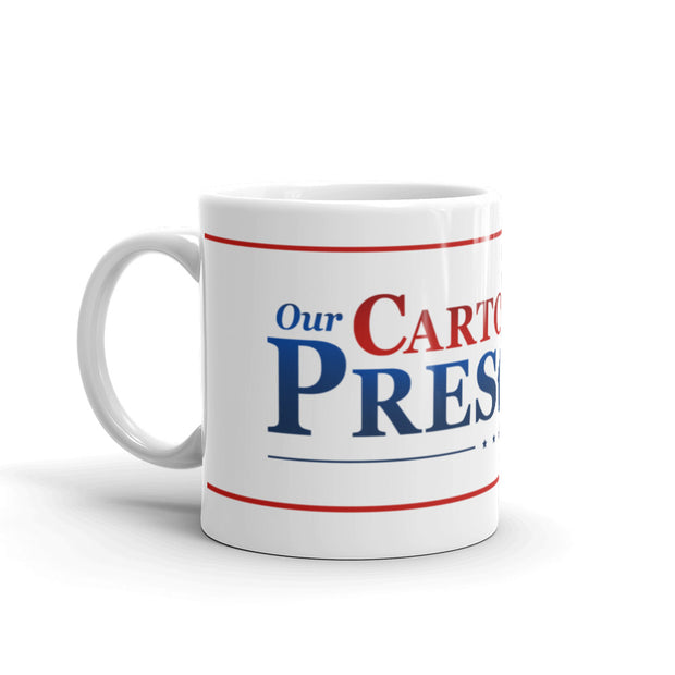 Our Cartoon President Logo White Mug