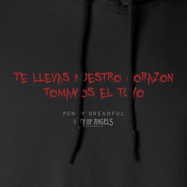 Penny Dreadful: City of Angels Blood Writing Fleece Hooded Sweatshirt