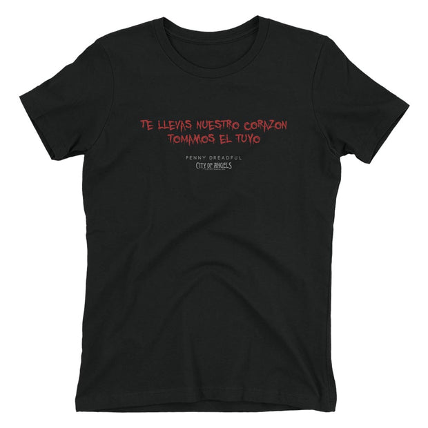 Penny Dreadful: City of Angels Blood Writing Women's Short Sleeve T-Shirt