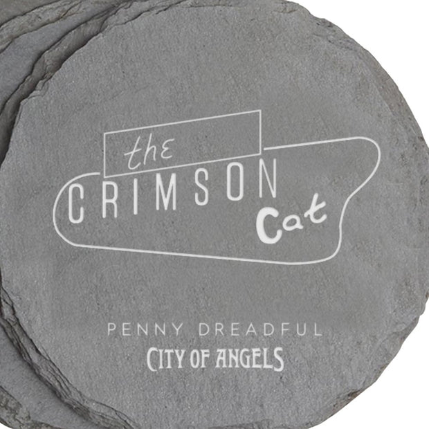 Penny Dreadful l: City of Angels Crimson Cat Slate Coasters - Set of 4