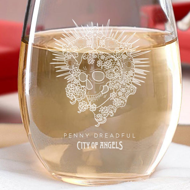 Penny Dreadful: City of Angels Santa Muerte Laser Engraved Stemless Wine Glass
