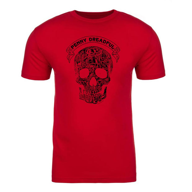 Penny Dreadful Line Art Skull Adult Short Sleeve T-Shirt