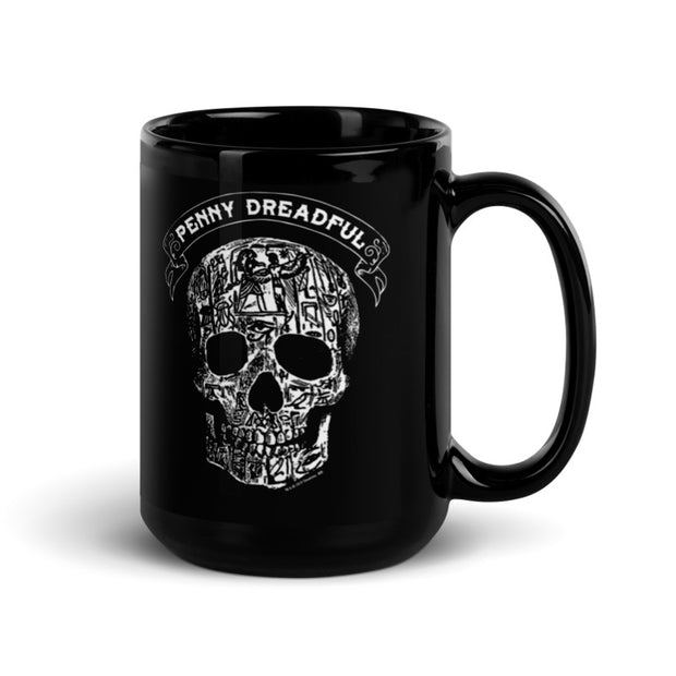 Penny Dreadful Line Art Skull Black Mug
