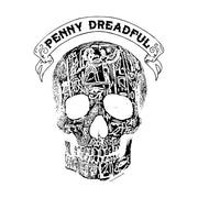 Penny Dreadful Line Art Skull Women's Relaxed V-Neck T-Shirt