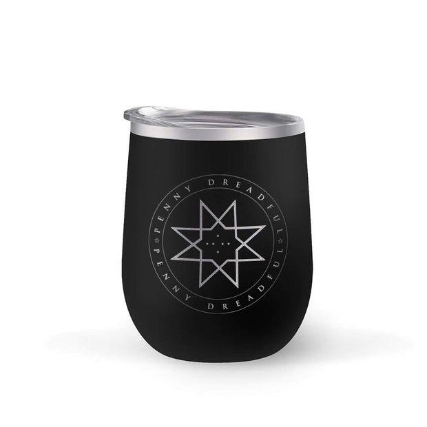 Penny Dreadful Star 12 oz Stainless Steel Wine Tumbler with Straw