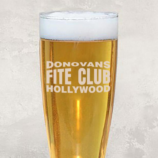 Ray Donovan Donovan's Fite Club 16 oz Laser Engraved Pilsner Glass