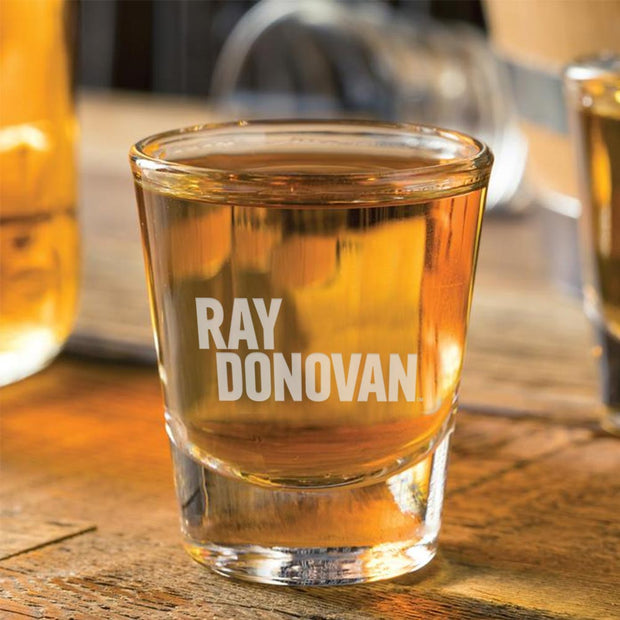 Ray Donovan Logo Laser Engraved Shot Glass