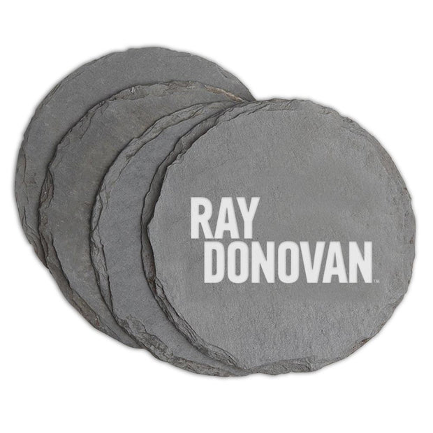 Ray Donovan Logo Laser Engraved Slate Coaster - Set of 4