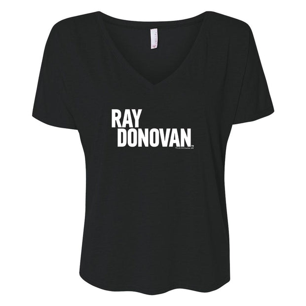 Ray Donovan Logo Women's Relaxed V-Neck T-Shirt
