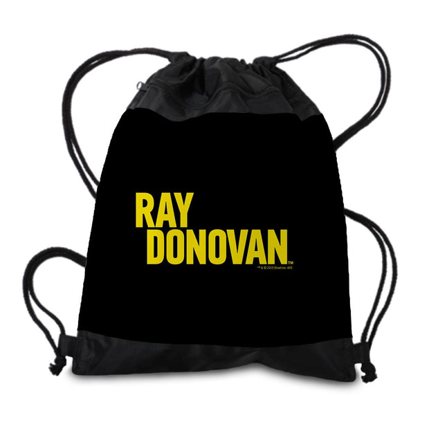 Ray Donovan Yellow Logo Drawstring Bag