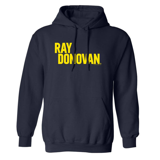 Ray Donovan Yellow Logo Fleece Hooded Sweatshirt