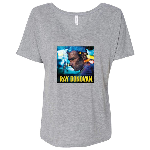 Ray Donovan Season 7 Art Women's Relaxed V-Neck T-Shirt