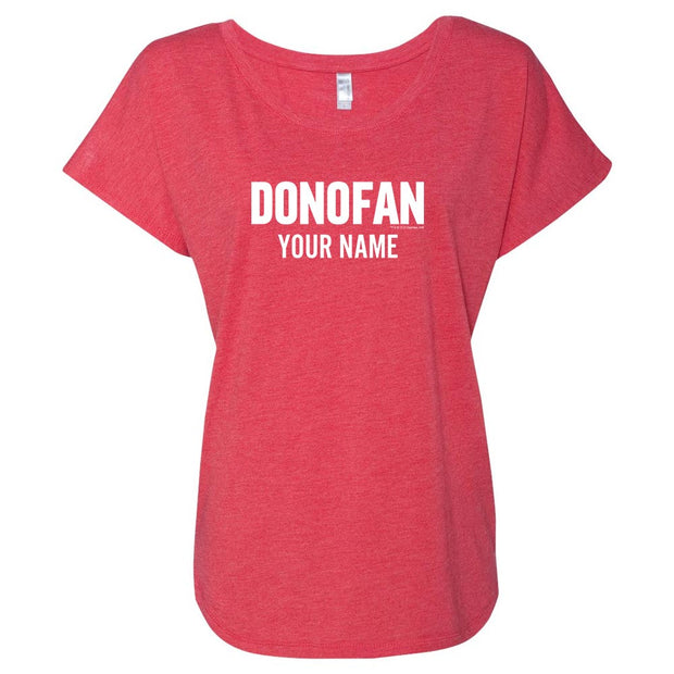 Ray Donovan Donofan Personalized Women's Tri-Blend Dolman T-Shirt