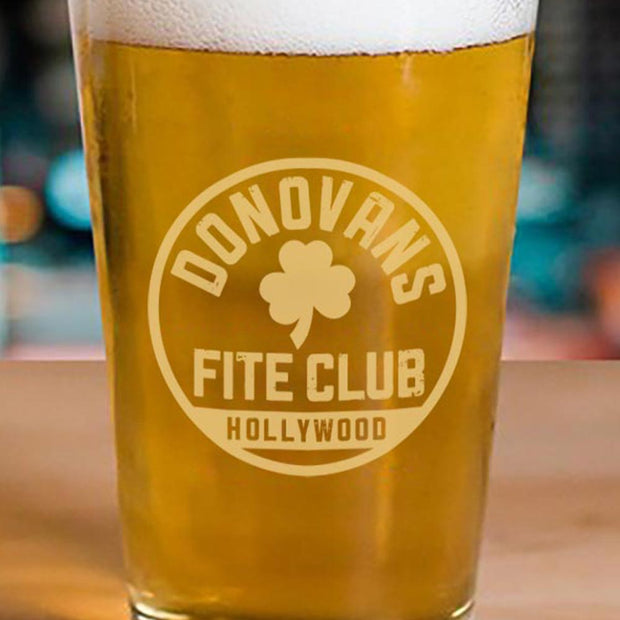 Ray Donovan Fite Club Clover Pint Glass