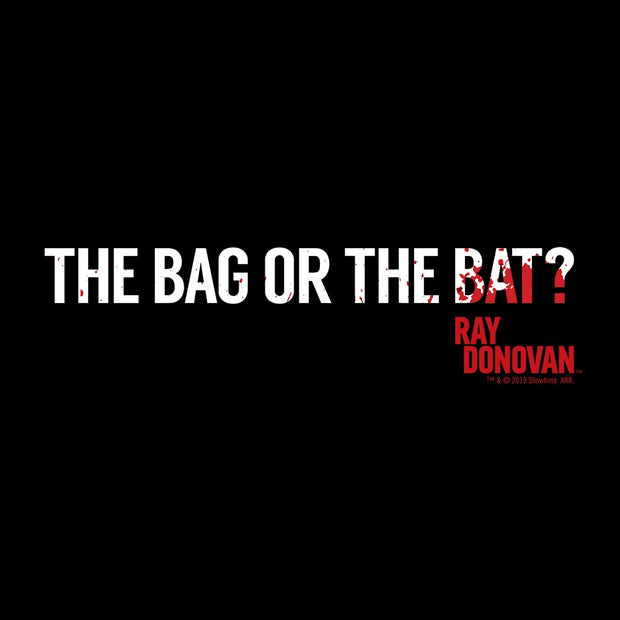 Ray Donovan The Bag or the Bat? Adult V-Neck T-Shirt