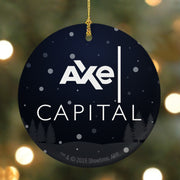 Billions Axe Capital Stacked Logo Round Ceramic Ornament