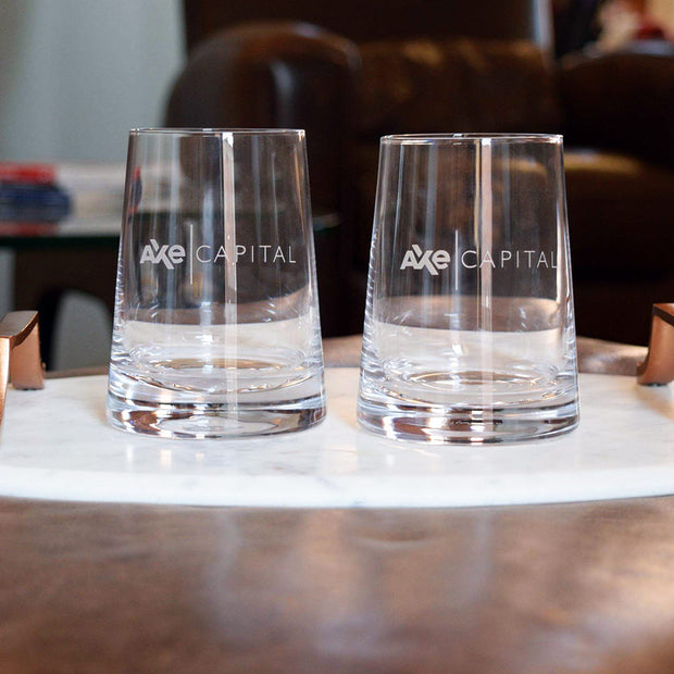 Billions Axe Capital Stemless Wine Glasses (Set of 2)