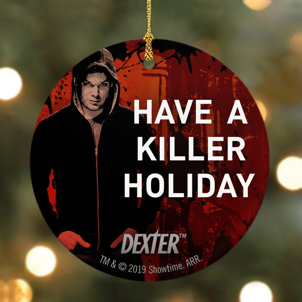Dexter Have a Killer Holiday Round Ceramic Ornament