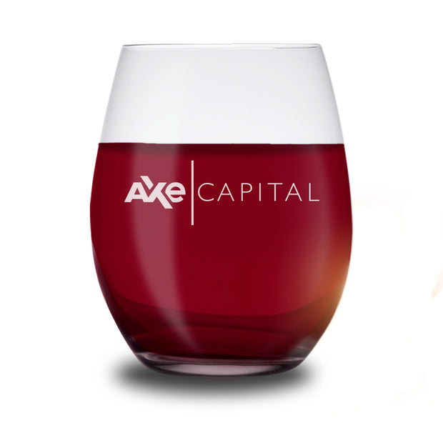 Billions Axe Capital Horizontal Logo Stemless Wine Glass