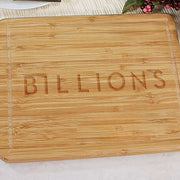 Billions Logo Laser Engraved Bamboo Cutting Board