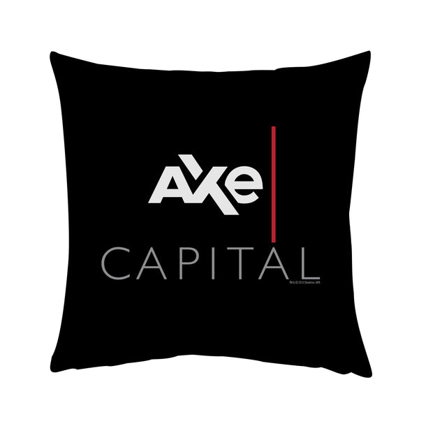 "Billions Axe Capital Stacked Logo Throw Pillow - 16"" x 16"""
