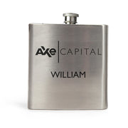 Billions Axe Capital Personalized Silver Flask