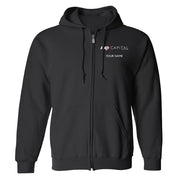Billions Axe Capital Personalized Fleece Zip-Up Hooded Sweatshirt