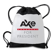 Billions Axe For President Drawstring Bag
