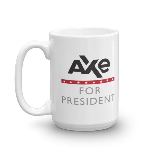Billions Axe For President 15 oz White Mug