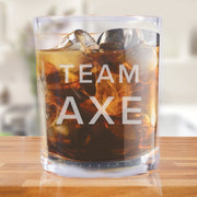 Billions Team Axe Rocks Glass