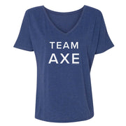 Billions Team Axe Women's Relaxed V-Neck T-Shirt