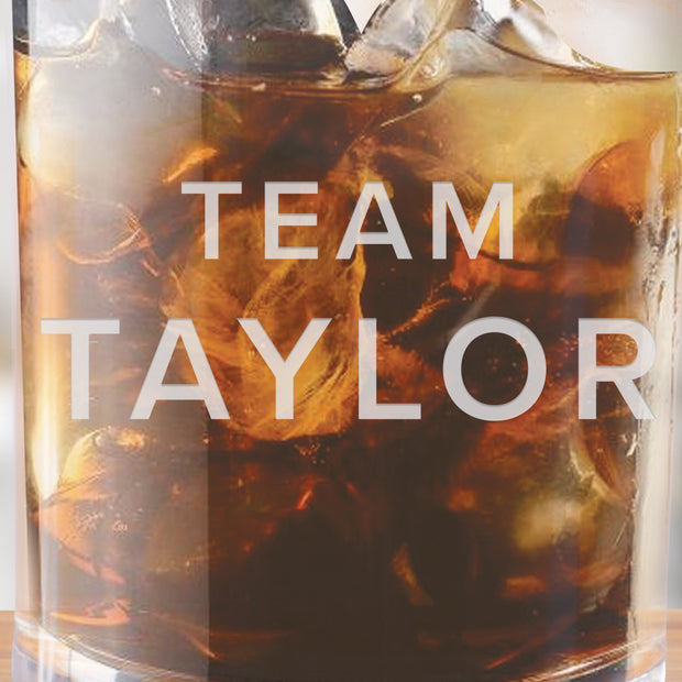 Billions Team Taylor Rocks Glass