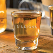 Billions Logo Laser Engraved Shot Glass