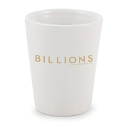 Billions Logo Ceramic Shot Glass
