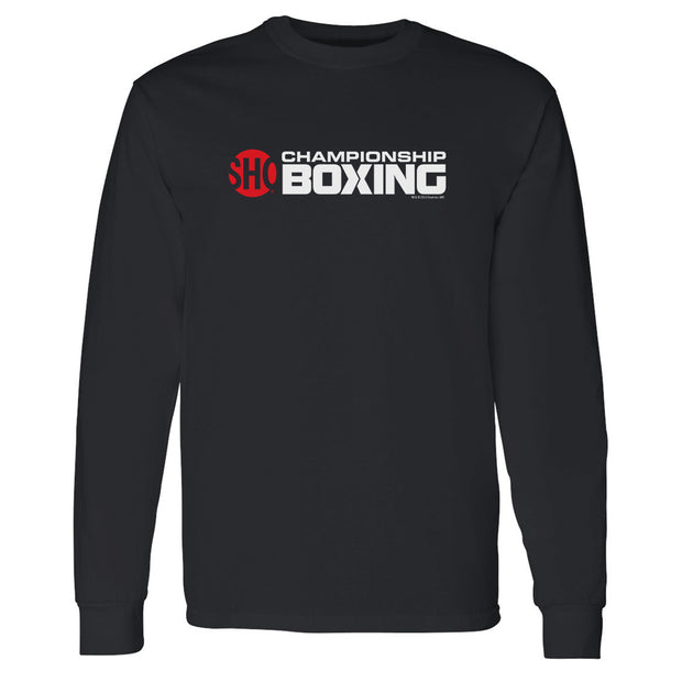 SHOWTIME Championship Boxing Logo Adult Long Sleeve T-Shirt