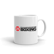 SHOWTIME Championship Boxing Logo White Mug