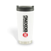 SHOWTIME Championship Boxing Logo 16 oz Stainless Steel Thermal Travel Mug