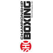SHO Championship Boxing Logo 20 oz Screw Top Water Bottle with Straw
