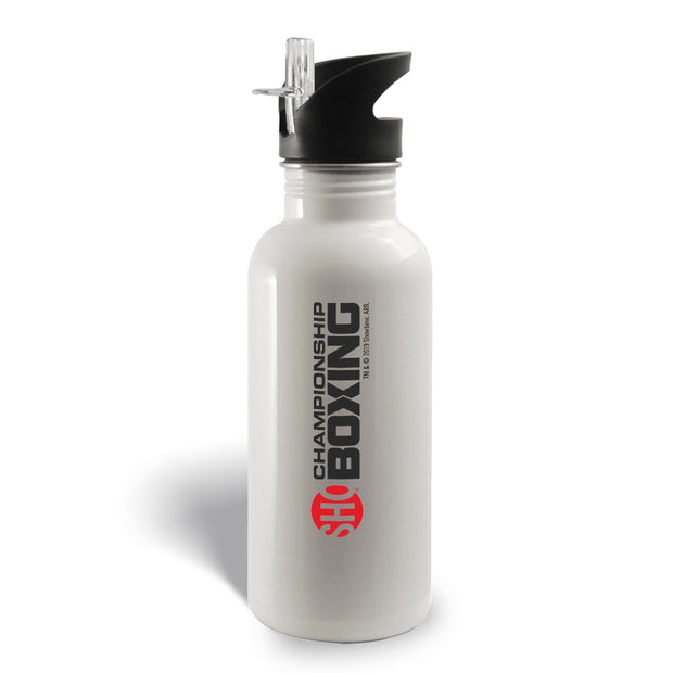 SHOWTIME Championship Boxing Logo 20 oz Screw Top Water Bottle with Straw