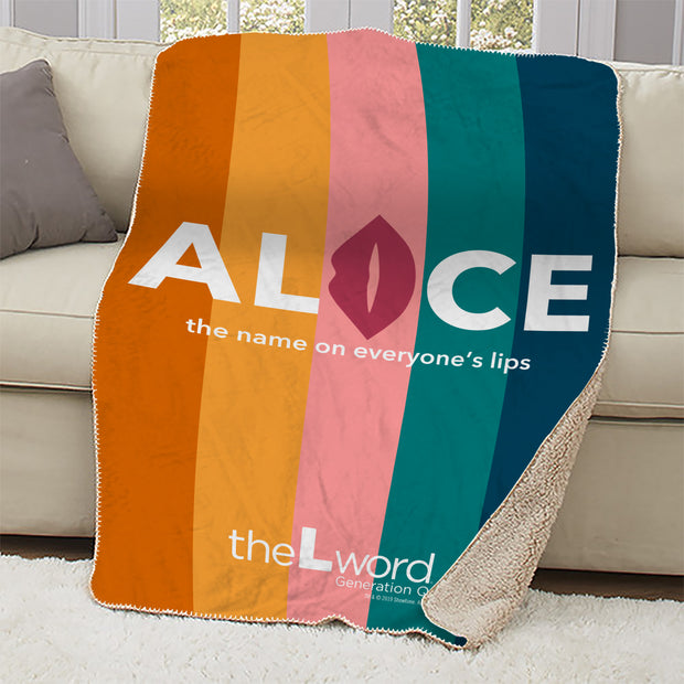The L Word: Generation Q The Alice Show Logo Sherpa Blanket
