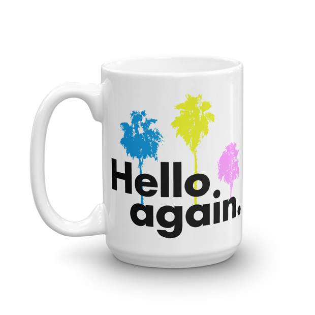 The L Word: Generation Q Hello Again Palm Trees White Mug