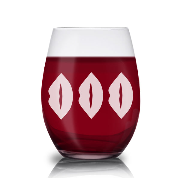 The L Word: Generation Q The Alice Show Lips Laser Engraved Stemless Wine Glass