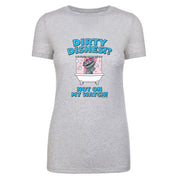 Kidding Dirty Dishes Women's Tri-Blend Short Sleeve T-Shirt