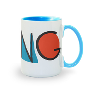 Kidding Color Logo Two-Tone Mug