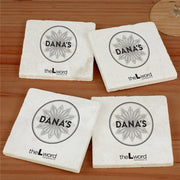 The L Word: Generation Q Dana's Bar Logo Marble Coasters - Set of 4