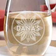 The L Word: Generation Q Dana's Bar Logo Laser Engraved Stemless Wine Glass