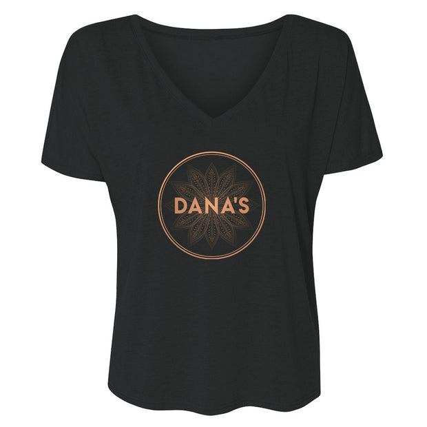 The L Word: Generation Q Dana's Bar Logo Women's Relaxed V-Neck T-Shirt