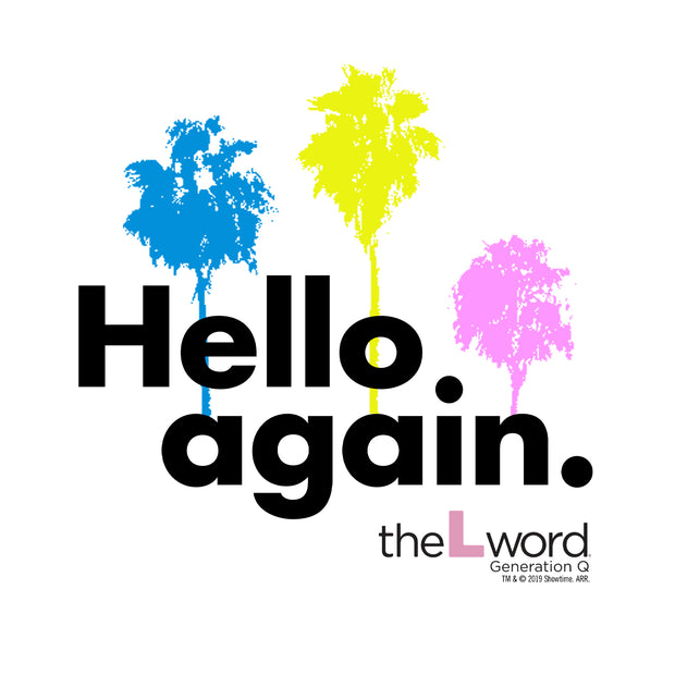 The L Word: Generation Q Hello Again Palm Trees Women's Relaxed V-Neck T-Shirt