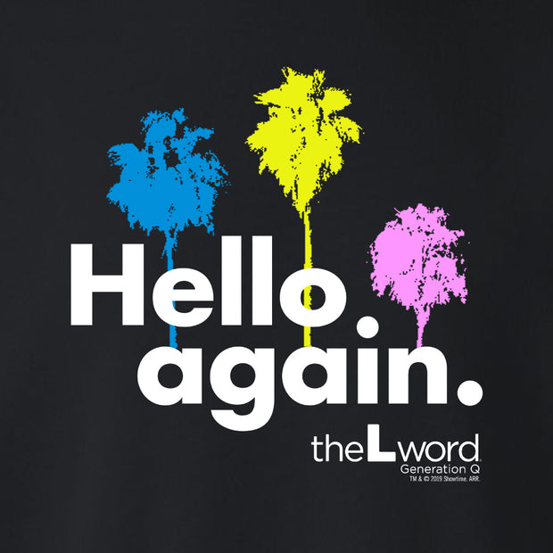 The L Word: Generation Q Hello Again Palm Trees Fleece Crewneck Sweatshirt